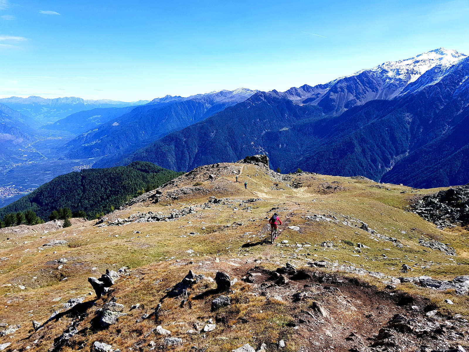 Trails absurfen und geniesen im Vinschgau