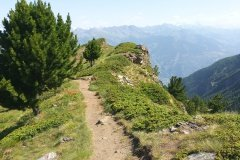 rollen lassen auf fantastischen Aosta Trails