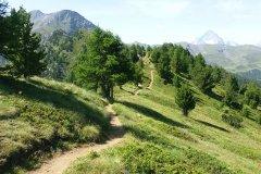 die Trailfreuden sind lang im Aosta Valley