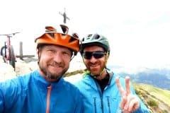 am Gipfel oberhalb von Aosta