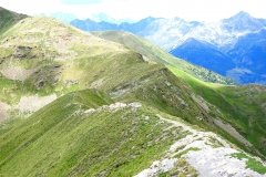 schöner Kammtrail im Aosta Valley