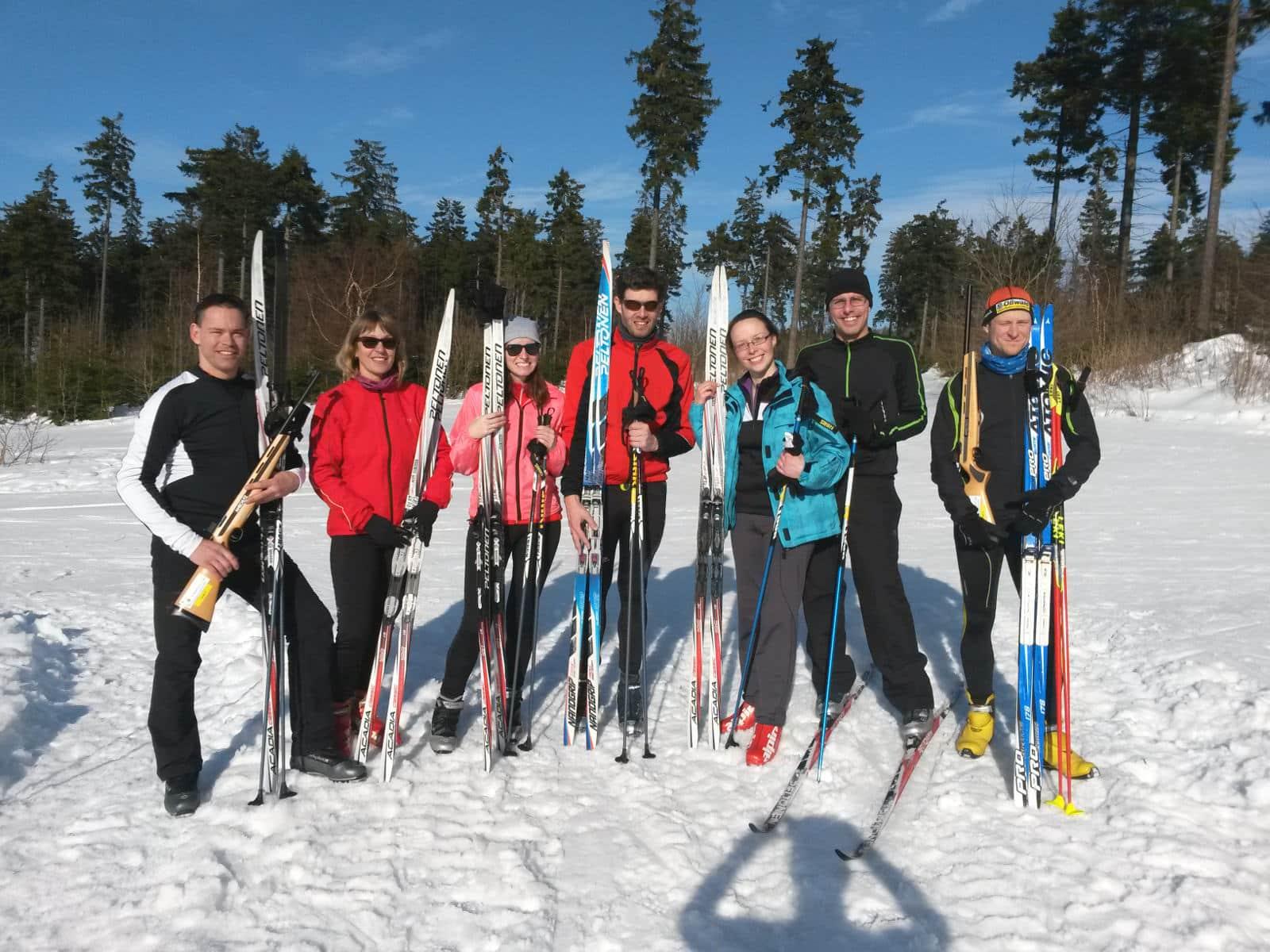 Biathlon Gruppe am roten Moor in der Rhön