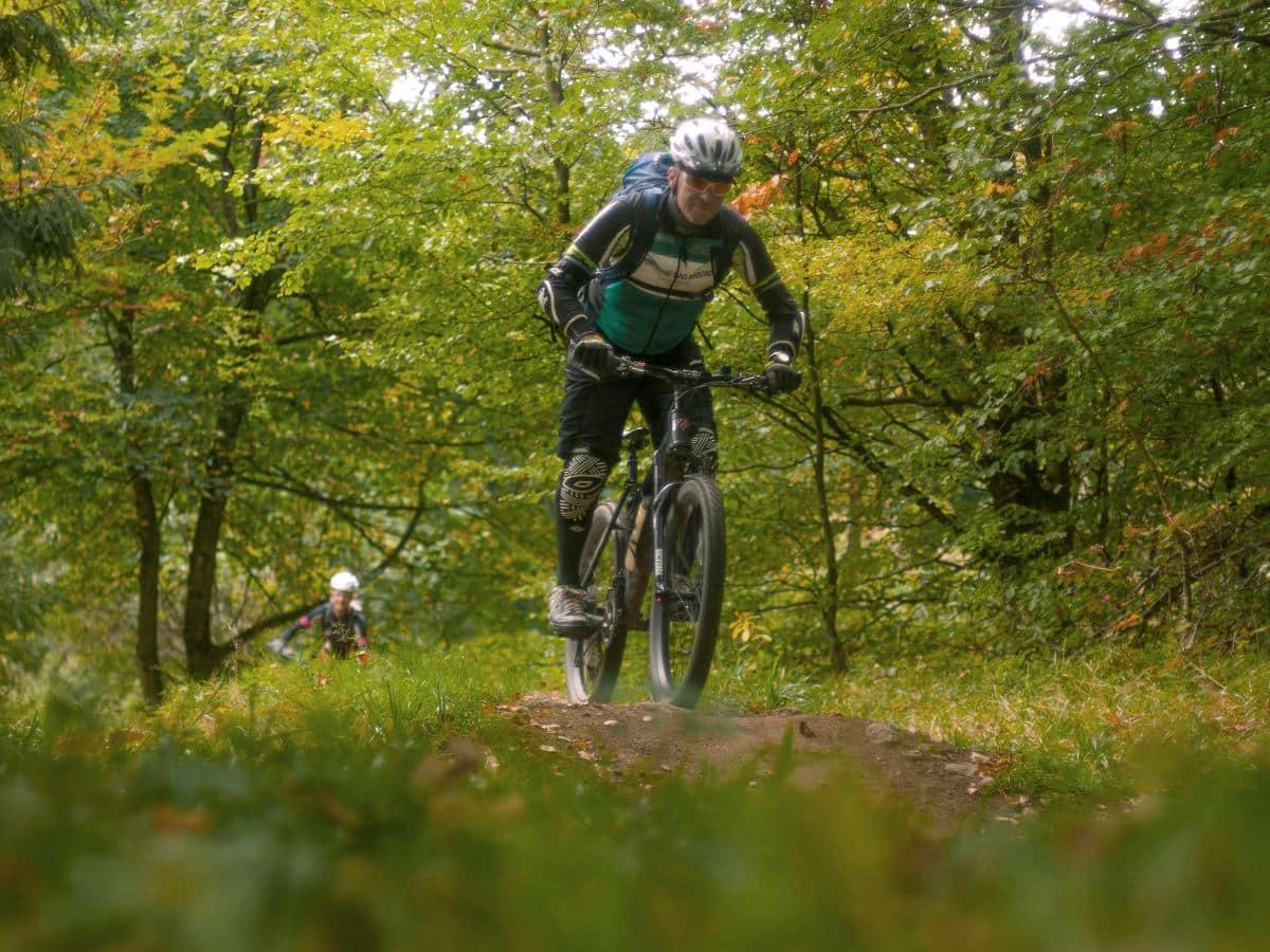 beim E-Bike Kurs in der Rhön