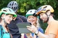 Videoanalyse in den E-Mountainbike Fahrtechnik Kursen