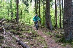 unterwegs auf der E-Mountainbike Trailtour in der Rhön