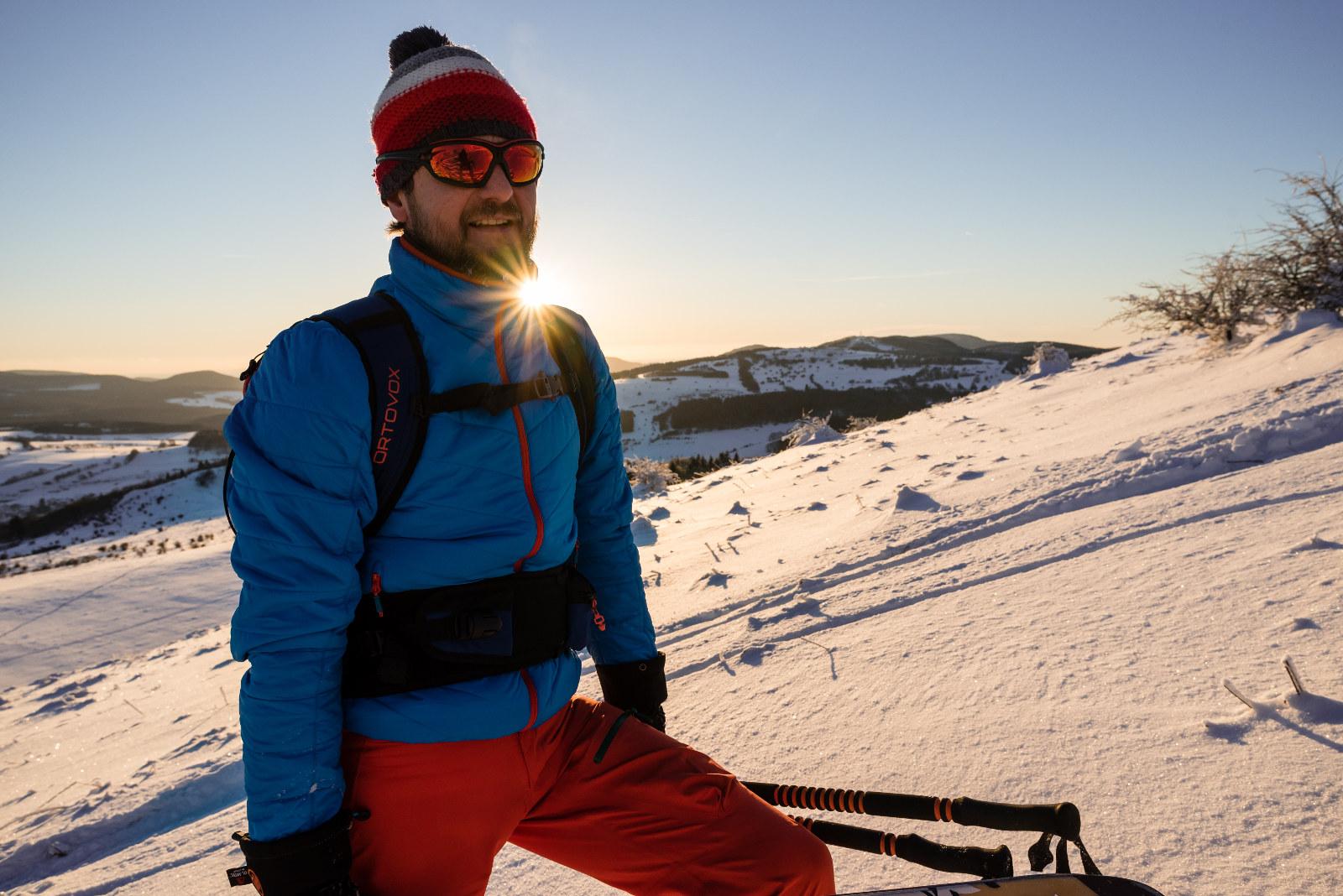 die Stille auf Skitour geniesen