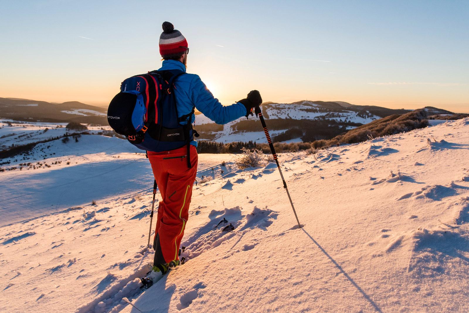 Skitour in der Rhön bei besten Bedingungen