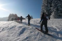 aufwärts bei der Skitour in der Rhön