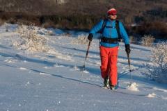 unterwegs auf Einsteiger Skitour in der Rhön
