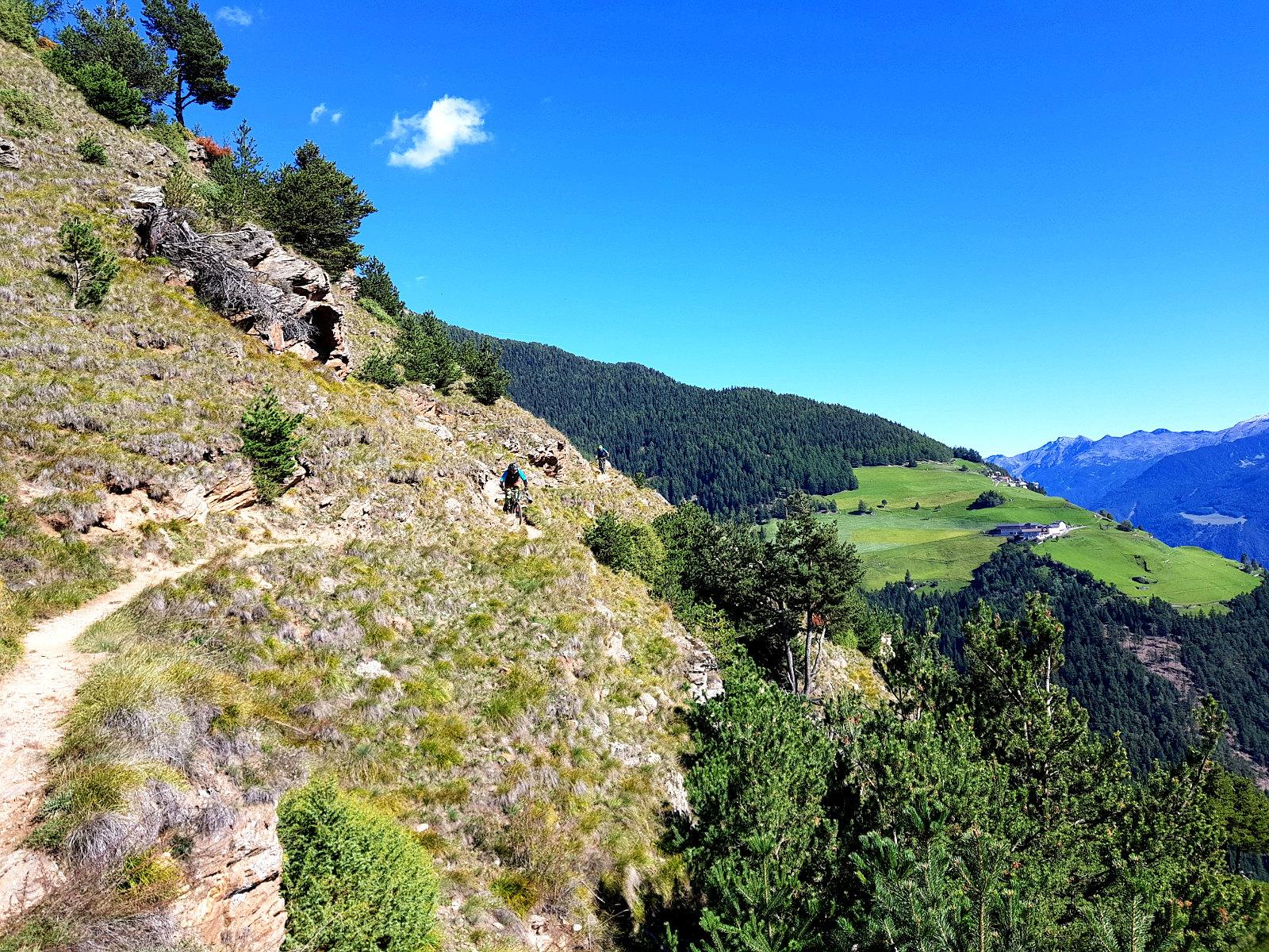 schöne Panorama Trails im Vinschgau beim Enduro Trailcamp
