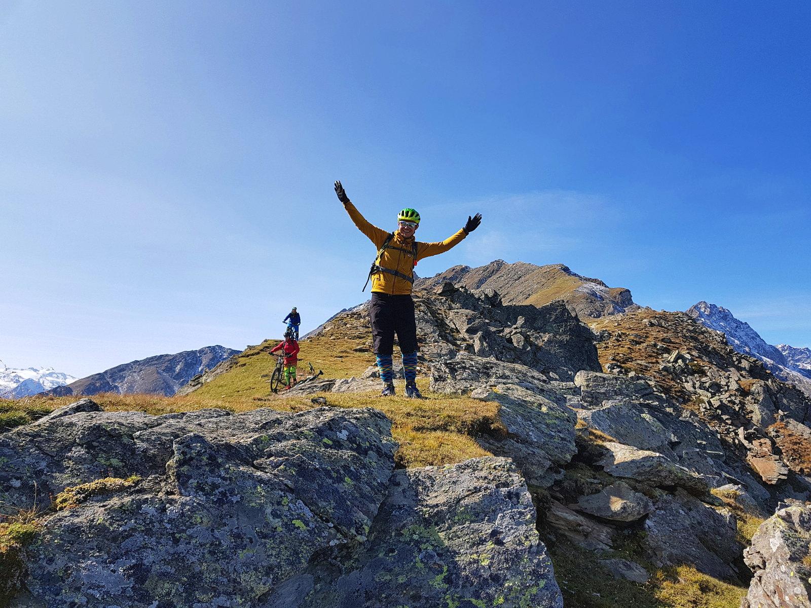 die Gipfelfreude der Mountainbiker