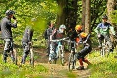 unterwegs mit Fahrtechnik Übungen im Trail