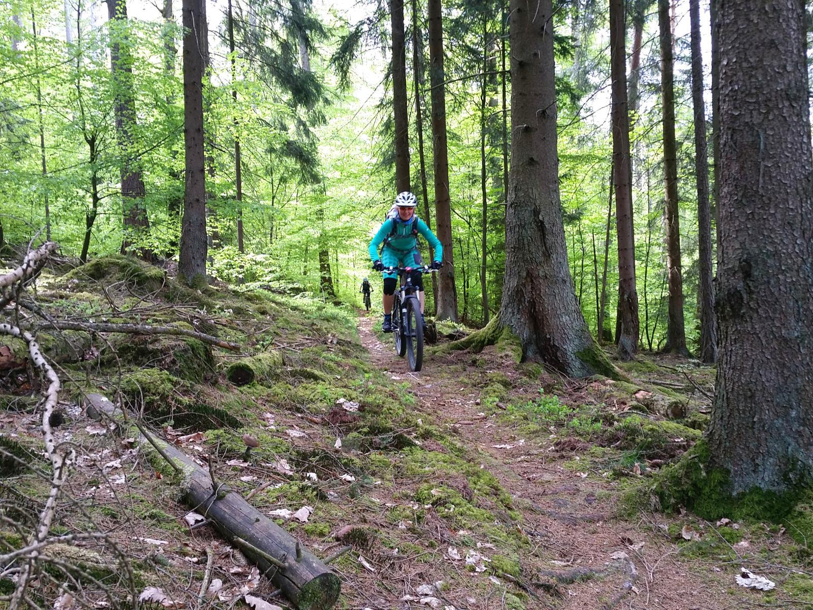unterwegs auf Trailtour in der Rhön