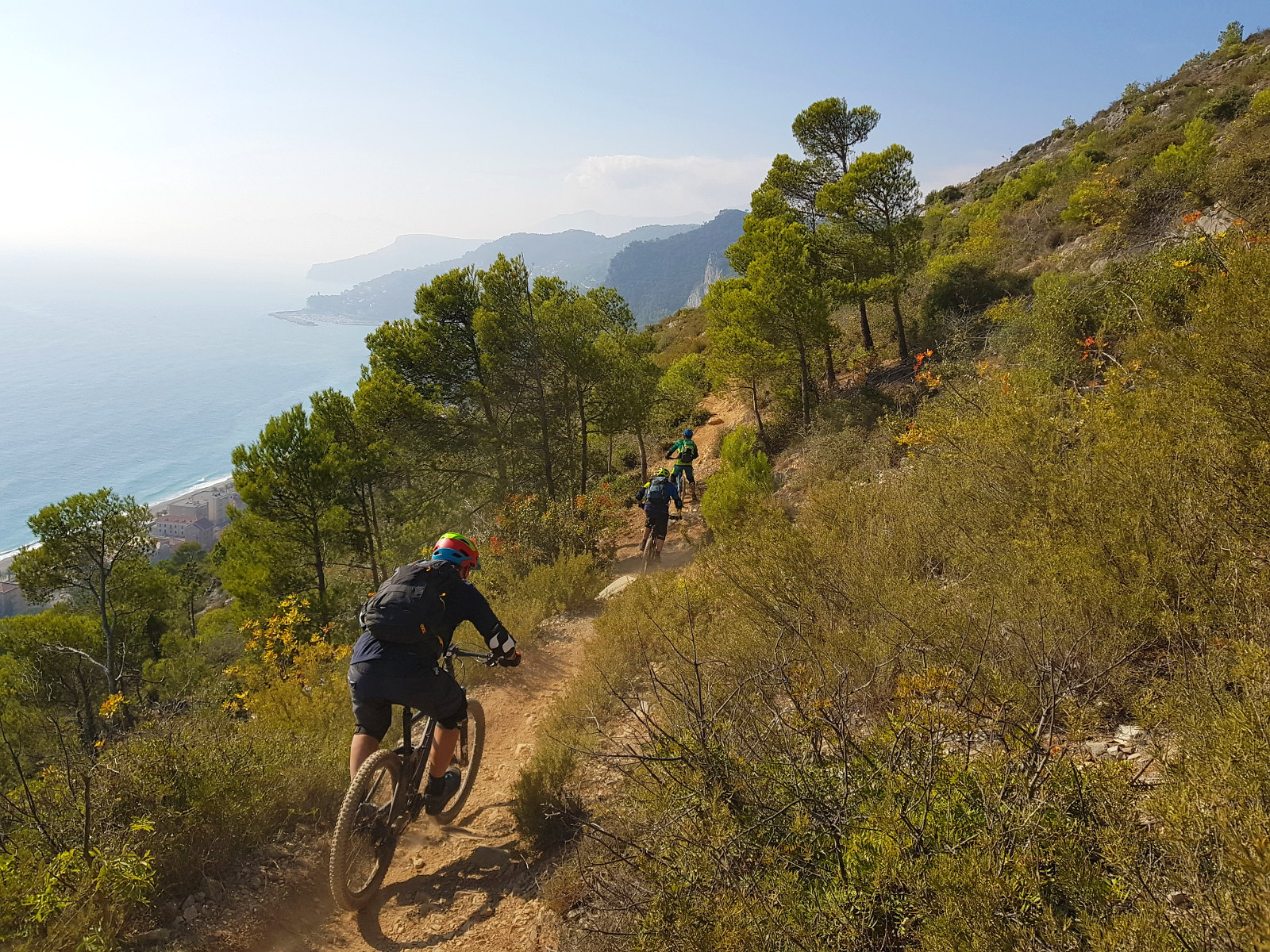 unterwegs mit den Bikes in Ligurien