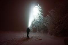 Nachts auf Skitour unterwegs in der Rhön