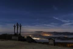 die drei Kreuze am Gipfel
