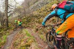 Mountainbike Tour mit Spitzkehren in der Rhön