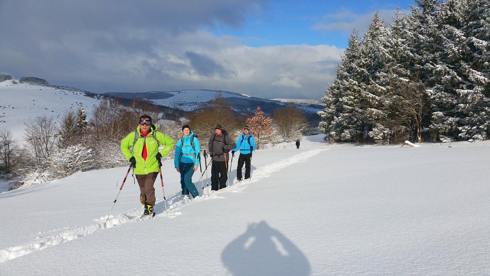 unterwegs auf Skitour in der Rhön