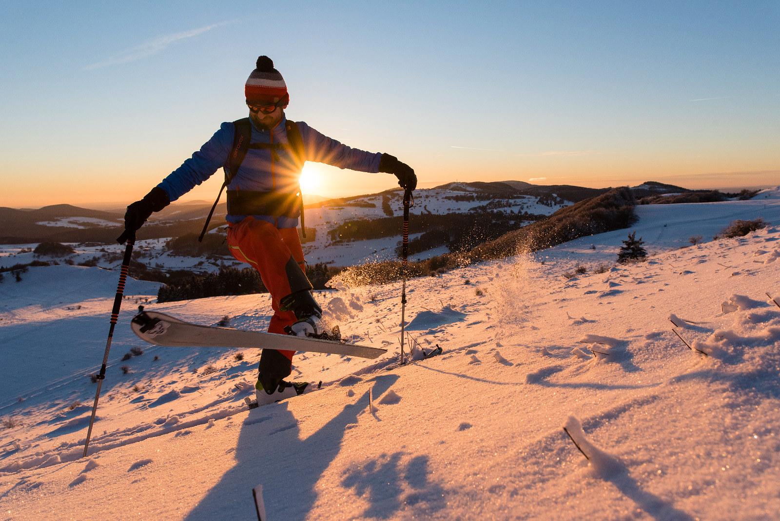 Spitzkehrenspaß auf Skitour in der Rhön
