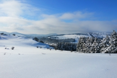 traumhafte Ausblicke in die verschneite Rhön