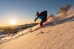 schöne Mittelgebirgsabfahrten auf Skitour