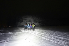 Nightride in tollem Schnee