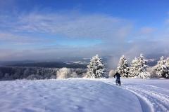 Mountainbike im Winter in der Rhön