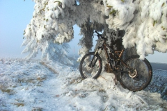 Winterbiken in der Rhön