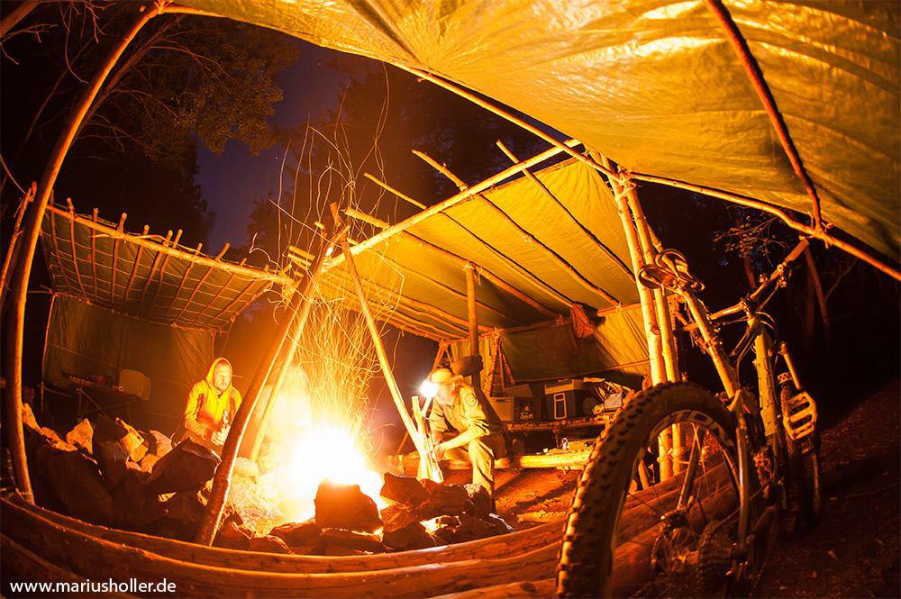 Lagerfeuer und Trails in der Rhön