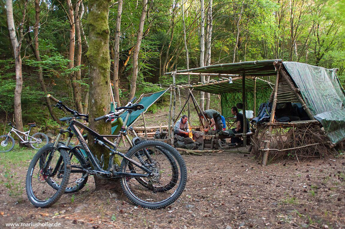 Camp Idylle im Bushcraftcamp Rhön