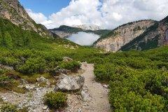 auf Mountainbike Tour in den Dolomiten