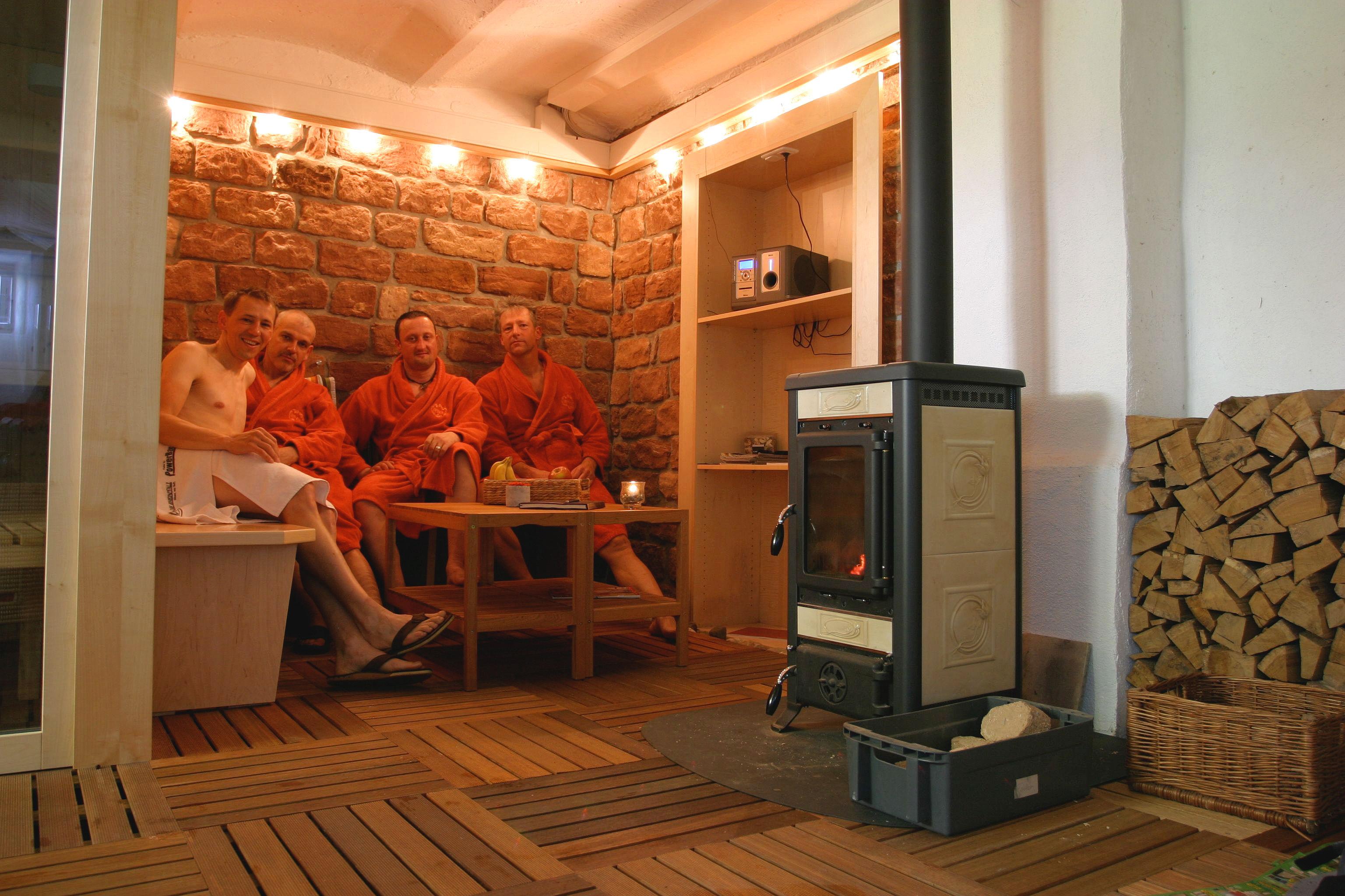 entspannen in der Saune nach der Tour