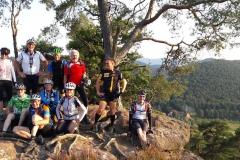 auf Mountainbike Tour in der Pfalz unterwegs