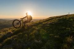 Sundowner beim biken in der Rhön