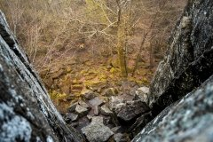 mystische Felsformationen auf Tour in der Rhön