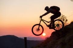 auf Mountainbike Tour in der Rhön